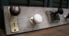 vintage heirloom door knob coat rack