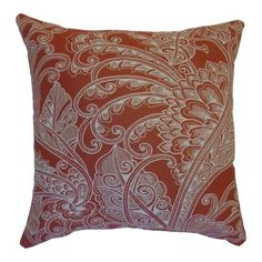 Easy Way Products Sunbrella Insignia II Terracotta Throw Pillow