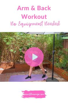 Arm & Back Workout | No Equipment #Armworkout #backworkout #workoutvideo #womensworkout #upperbodyworkout
