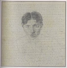 André Breton, [Letter to Theodore Fraenkel with self-portrait]  january 1919.