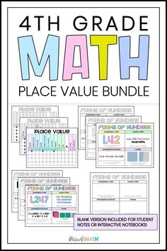 Forms of Numbers & Place Value Posters/Anchor Charts BUNDLE *Decimal version Included down to the hundredths *Whole number version included up to the billions TEKS Aligned: 4.2A, 4.2B, 4.2C, 4.2D #4thgrademathteks #4thgrademath #posters Place Value Poster, Place Value Chart, Math Place Value, Place Values, 4th Grade Math Games, Fourth Grade Math, Staar Test, Math Poster, Math Task Cards