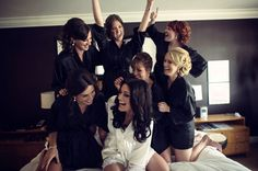 Black robes for bridesmaids - Photo Credit: Pickerill Creative