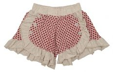 PAPER WINGS FRENCH TERRY RED SHORTS