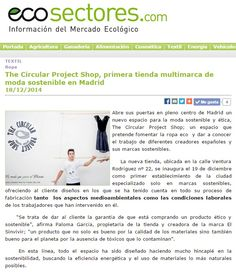 Ecosectores - 18/12/2014  The Circular Project Shop