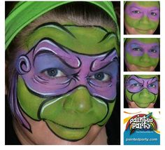 How to ninja turtle face paint