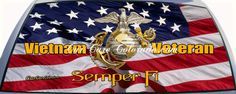 Vietnam Veteran Semper Fi Truck window Mural Rear Window Graphic  custom sized for your rear window.
