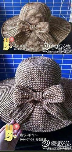 코바늘 여름 챙모자 도안 / 여름 모자 뜨기 : 네이버 블로그
