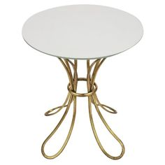 A and B Home Round End Table - Gold