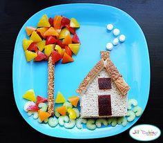 fun idea for kids plate of food