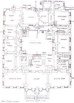 Aa E C A Cfbb B A Mansion Floor Plans Tudor House