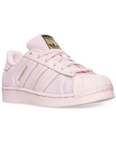 adidas Big Girls' Superstar Casual Sneakers from Finish Line - Pink 5.5
