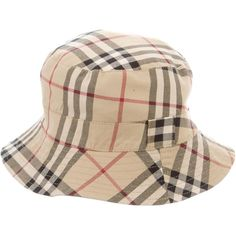 ec8050f0cd6 Pre-owned Burberry Reversible Bucket Hat ( 95) ❤ liked on Polyvore  featuring accessories