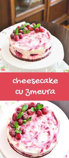 Cheesecake cu zmeură, fără coacere. O rețetă delicioasă și ușor de făcut. Un strat bogat de umplutură fină, cremoasă și aromată. #cheesecake #faracoacere #retetacheesecake #cheesecakecuzmeura #zmeura #prajituracuzmeura #desert #bucatearomate Cereal, Pancakes, Cheesecake, Lime, Breakfast, Food, Pie, Morning Coffee, Limes