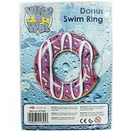 Inflatable Donut Swim Ring - 20 Inch
