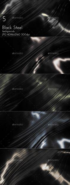 Black Steel Background by cinema4design | GraphicRiver Futuristic, Techno, Graphics, Graphic Design, Steel, Abstract, Image, Black, Summary