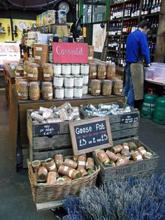 French food shop, Borough Market. **Well this is not PC for California is it!!!