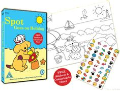 SPOT'S HOLIDAY ACTIVITY PACK from Abbey Home Media This activity pack includes the DVD, a sticker collection & a colouring in sheet.