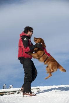 Murphy excited to his handler Eric #squawdogs