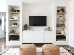 8 IKEA Besta Hacks to Inspire Your Next Storage Overhaul Living room shelves Room Makeover, Home Living Room, Built In Shelves Living Room, Home, Ikea Living Room, House Interior, Living Room Wall, Living Room Designs, Living Room Tv