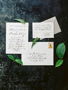 Lettering and paper design by Feast Fine Art and Calligraphy | Photography by Jasmine Pettersen