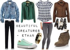"""""""Inspired By: Beautiful Creatures -- Ethan"""" by sarastrauss on Polyvore"""