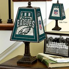 Philadelphia Eagles Art-Glass Table Lamp