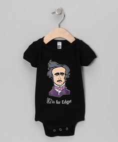 'E Is For Edgar' Bodysuit - too bad they don't have one for adults!