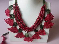 Items similar to Burgundy Crochet Clove Flower Necklace, Crochet Carnation Beaded Necklace, Bohemian Flower Jewelry on Etsy Summer Necklace, Flower Necklace, Crochet Necklace, Flower Jewelry, Beaded Necklace, Bohemian Flowers, Beaded Flowers, Crochet Flowers, Coral Turquoise