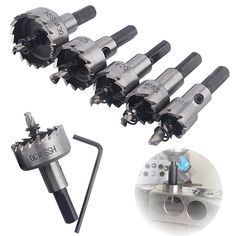 New arrival  5 Pcs HSS Drill Bit Hole Saw Tooth Set High Speed Steel Cutter Tools 16-30mm