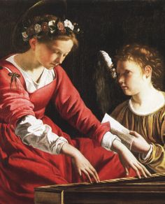 Saint Cecilia Playing the Spinet (c.1620). Gentileschi Orazio (Italian, 1563-1639). Oil on canvas. Galleria Nazionale dell'Umbria, Perugia.