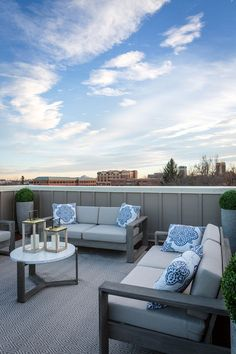 Roof Deck outdoor furniture and outdoor rug