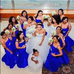 @hardehjohke & her girls ! Photo by @spicyteee ! #NWbms #Bridesmaids #blue #nigerianwedding #wedding #nigerianweddingpictures
