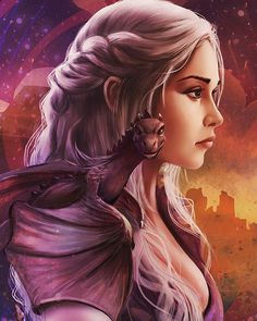 Mother Of Dragons, game of thrones, Daenerys Targaryen, Raivis Draka on ArtStati. Daenerys Targaryen, Khaleesi, Arte Game Of Thrones, Game Of Thrones Artwork, Fantasy Magic, Fantasy Art, Winter Is Here, Winter Is Coming, Game Of Thones