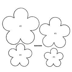 This link doesn't work but copy image into a word document, adjust size and print for the perfect felt flowers.