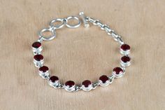 #Wholesale #Retail #Beautifully #Handmade #Faceted #Garnet Gemstone #Bracelet for Women,by Brillante Jewelry Made from 92.5 sterling Silver #Faceted #Garnet Gemstone #Bracelet. And by using Natural Gemtones..Pick this #Bracelet to add new definition to your Personality.About the Brand-Associated with Glamour,style and class,Brillante–Jewelry fashion jewelry appeals to,women across all age-groups.