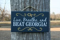 New Live Breathe and BEAT GEORGIA  Georgia by KRCustomWoodcrafts, $30.00