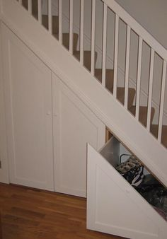 Understair Storage 13 - New Ideas Corner Storage, Storage Spaces, Understairs Toilet, Understairs Ideas, Understairs Shoe Storage, Stairway Storage, Rustic Closet, Under Stairs Cupboard, Toilet Under Stairs