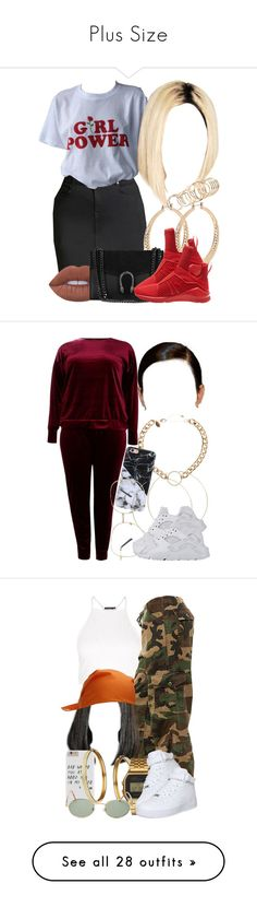 """""""Plus Size"""" by miizz-starburst ❤ liked on Polyvore featuring Forever 21, ALDO, Lime Crime, Puma, Boohoo, Spring Street, ASOS, NIKE, Rothco and Topshop"""
