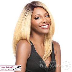 Its A Lace Front Wig - Synthetic Iron Friendly Lace Front Wig - SWISS LACE KONIS (futura) - WigTypes.com