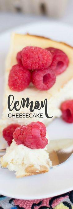 Lemon Cheesecake Recipe via @spaceshipslb