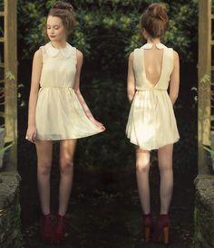 Beaded Collar (by Imogen De Souza) http://lookbook.nu/look/4094388-Love-Dress-Red-Velvet-Lita-Beaded-Collar