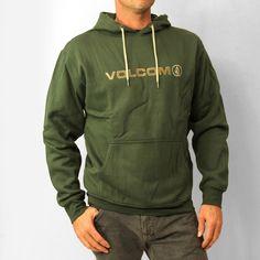 Volcom Mens Euro Pullover: Midnight Green £55.00