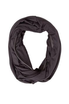 Black Carly Rose Infinity Scarf - ash&dans