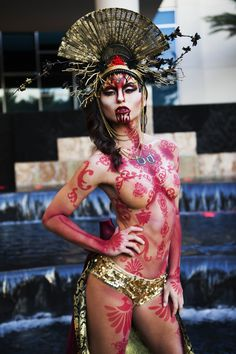 American Horror Story inspired look by Chloe Sens FX at The Makeup Show Orlando 2014! #sfx #specialeffects #fx #themakeupshow #americanhorrorstory