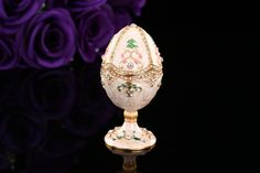 Find More Figurines & Miniatures Information about Cheap ship cost by DHL New arrive white faberge egg home decor,High Quality coste from Qifu Craft & Gift  on Aliexpress.com