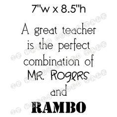A great teacher is...