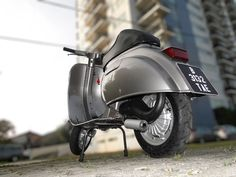 Vespa 100 Small frame with 130cc Polini cylinder displacement, Reed Valve Polini induction, Polini Delorto 24mm carburettor, 4 speed primavera gearbox, Polini exhaust