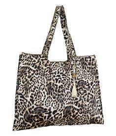 0aadf82e4 Bolsa Sacola Animal Print. Linha passeio com estampas de oncinha. Essa bolsa  é perfeita
