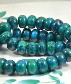 1 Strand Green Turquoise Gem Rondelle Bead Charms for DIY Necklace Bracelet