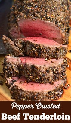 Crusted Beef Tenderloin is easily made by roasting it in the oven and the. -Pepper Crusted Beef Tenderloin is easily made by roasting it in the oven and the. Cooking Roast Beef, Roast Beef Recipes, Cooking Beef Tenderloin, Roasted Beef Tenderloin Recipes, Best Beef Tenderloin Recipe, Oven Roast Beef, Beef Tenderloin Marinade, Fillet Steak Recipes, Roast Tenderloin